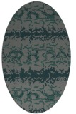 rug #452905 | oval green animal rug