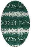 rug #452909 | oval blue-green popular rug