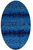 rug #452945 | oval blue animal rug