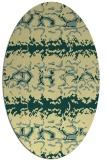 rug #452981 | oval yellow animal rug