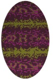rug #453005 | oval purple animal rug