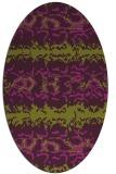 rug #453005 | oval green popular rug