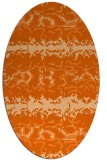 rug #453037 | oval red-orange animal rug