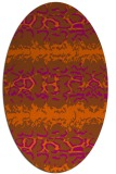 rug #453041 | oval red-orange animal rug