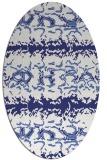 rug #453057 | oval blue animal rug