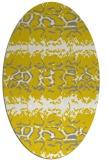 rug #453077 | oval white animal rug