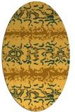 rug #453081 | oval light-orange animal rug