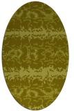 rug #453097 | oval light-green animal rug