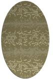 rug #453101 | oval light-green animal rug