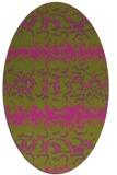 rug #453105 | oval pink animal rug