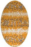 rug #453125 | oval light-orange animal rug