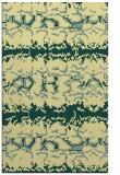 rug #453333    blue-green animal rug