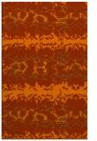rug #453385 |  red-orange animal rug