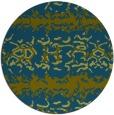 rug #453541   round green animal rug