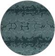rug #453553 | round blue-green animal rug