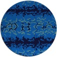 rug #453649 | round blue animal rug