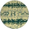 rug #453685 | round yellow animal rug