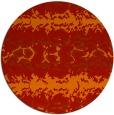 rug #453725 | round red animal rug