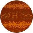 rug #453737 | round red-orange animal rug