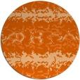 rug #453741 | round red-orange animal rug