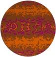 rug #453745 | round red-orange animal rug