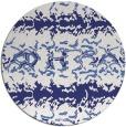 rug #453761 | round blue animal rug