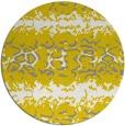 rug #453781   round yellow animal rug