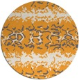 rug #453829 | round light-orange animal rug