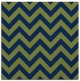 rug #454221 | square blue stripes rug
