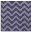 rug #454273 | square blue-violet stripes rug