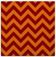 rug #454373 | square orange retro rug