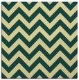 rug #454389   square yellow stripes rug