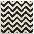 rug #454493 | square black stripes rug