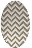 rug #454537   oval white stripes rug