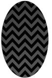 rug #454545 | oval black stripes rug