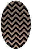 rug #454550 | oval stripes rug