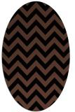rug #454553   oval brown retro rug
