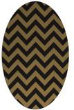 rug #454557 | oval mid-brown retro rug