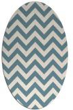 rug #454561 | oval blue-green rug