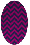 rug #454565 | oval pink retro rug