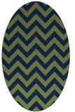 rug #454573 | oval blue retro rug