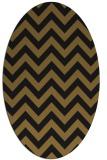 rug #454653 | oval mid-brown stripes rug