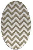 rug #454677 | oval mid-brown stripes rug