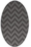rug #454685 | oval mid-brown retro rug