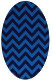 rug #454705 | oval blue retro rug