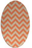 rug #454733 | oval orange retro rug