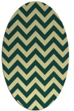 rug #454741 | oval yellow retro rug