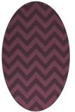 rug #454761 | oval purple stripes rug