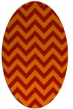 rug #454781 | oval orange stripes rug