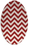 rug #454785 | oval red retro rug